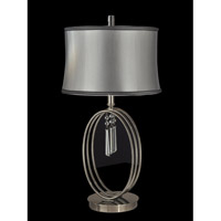 Dale Tiffany Halo Ring 1 Light Table Lamp in Antique Nickel GT13255