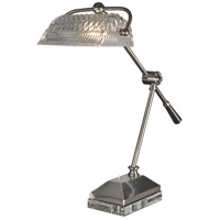 Dale Tiffany GT13256 Hemingway 18 inch 60 watt Satin Nickel Desk Lamp Portable Light
