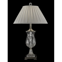 Dale Tiffany Labelle 1 Light Table Lamp in Antique Nickel GT13261