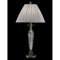Dale Tiffany Cutler Bay 1 Light Table Lamp in Antique Nickel GT13263
