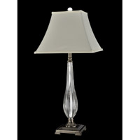 Dale Tiffany Terama 1 Light Table Lamp in Antique Nickel GT13267