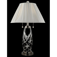 Dale Tiffany Shield 2 Light Table Lamp in Antique Nickel GT13268