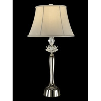 Dale Tiffany Gretchen 1 Light Table Lamp in Polished Nickel GT13278