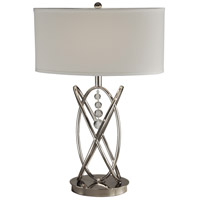 Dale Tiffany GT14040 Jupiter 25 inch 150 watt Polished Nickel Table Lamp Portable Light