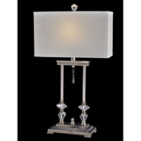 Dale Tiffany Pulaski 1 Light Table Lamp in Polished Nickel GT14041