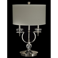 Dale Tiffany Sheridan 1 Light Table Lamp in Polished Nickel GT14042