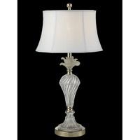 Dale Tiffany GT14265 Snowflake 28 inch 150 watt Polished Nickel Table Lamp Portable Light