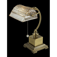 Dale Tiffany Droplet 1 Light Desk Lamp in Antique Brass GT14267