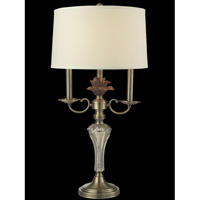 Dale Tiffany GT14276 Champagne 30 inch 150 watt Antique Brass Table Lamp Portable Light