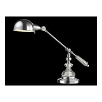 Dale Tiffany Gardiner 1 Light Desk Lamp in Polished Chrome GT14318
