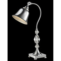 Abbeville 25 inch 60 watt Polished Chrome Desk Lamp Portable Light