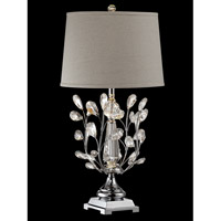 Blossom 30 inch 100 watt Polished Chrome Table Lamp Portable Light