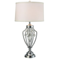 Dale Tiffany GT15310LED Tonya 31 inch 7.5 watt Polished Chrome Table Lamp Portable Light