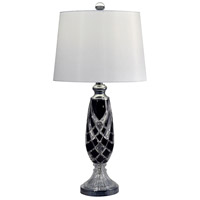 Shield 29 inch 150 watt Black and Polished Chrome Table Lamp Portable Light
