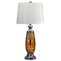 Dale Tiffany GT17084 Glossy Amber 29 inch 150 watt Polished Chrome Table Lamp Portable Light thumb