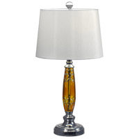 Dale Tiffany GT17088 Autumn Lake 26 inch 150 watt Polished Chrome Table Lamp Portable Light