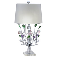 Dale Tiffany GT18208 Vibrant Blossom 29 inch 60 watt Polished Chrome Table Lamp Portable Light