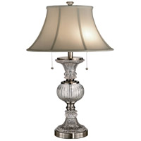 Dale Tiffany Granada Table Lamp 2 Light in Brushed Nickel GT60653 photo thumbnail
