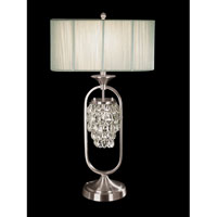Dale Tiffany Delaney Table Lamp 2 Light in Brushed Nickel GT701058