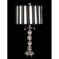 Dale Tiffany Electra 2 Light Table Lamp in Brushed Nickel GT701203 photo thumbnail