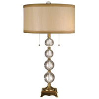 Aurora Crystal 32 inch 60 watt Antique Brass Table Lamp Portable Light