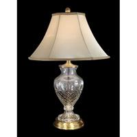 Dale Tiffany Jefferson 1 Light Table Lamp in Antique Brass GT70417