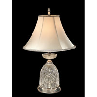 Dale Tiffany Walterboro Table Lamp 1 Light in Brushed Nickel GT70459
