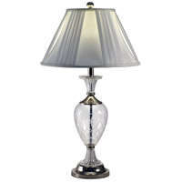 Dale Tiffany Yorktown 1 Light Table Lamp in Brushed Nickel GT70463
