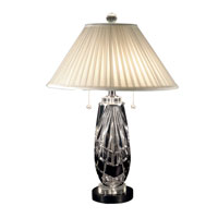 Dale Tiffany Black Shield Table Lamp 2 Light in Black Nickel GT70685 photo thumbnail