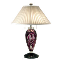 Dale Tiffany Haskell Crystal Lamp 2 Light in Black Nickel GT70694 photo thumbnail
