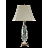 Dale Tiffany Luciana Crystal Table Lamp 1 Light in Antique Pewter GT80115 photo thumbnail