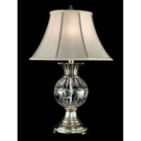 Dale Tiffany Adriana Crystal Table Lamp 1 Light in Antique Pewter GT80119
