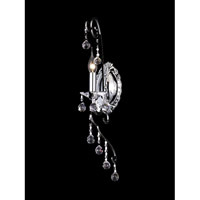 Dale Tiffany Hartley Crystal Wall Sconce 1 Light in Polished Chrome GW10297