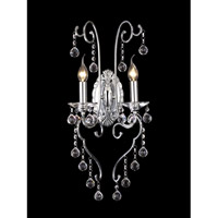 Mansfield Crystal 2 Light 12 inch Polished Chrome Wall Sconce Wall Light