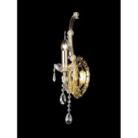 Healy Crystal 1 Light 5 inch Gold Plated Wall Sconce Wall Light