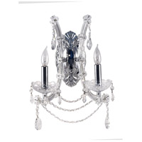 Dale Tiffany Mcgregor Crystal Wall Sconce 2 Light in Polished Chrome GW10301
