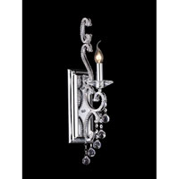 Dale Tiffany Richmond Park Crystal Wall Sconce 1 Light in Polished Chrome GW10302
