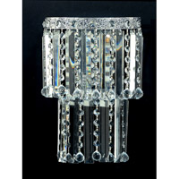 Dale Tiffany Allens Green Wall Sconce 2 Light in Polished Chrome GW10733