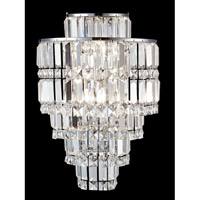 Cathedral 3 Light 12 inch Polished Chrome Wall Sconce Wall Light