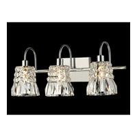 Dale Tiffany Teton 3 Light Vanity Light in Polished Chrome GW13389