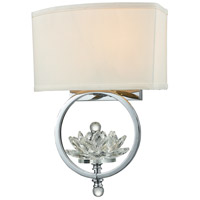 Polished Chrome Crystal Metal Wall Sconces