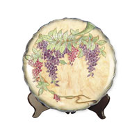 Dale Tiffany Wisteria Porcelain Charger PA500209 photo thumbnail