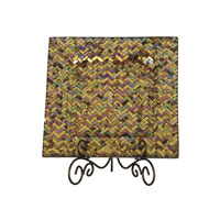 Herringbone 14 X 14 inch Decorative Charger