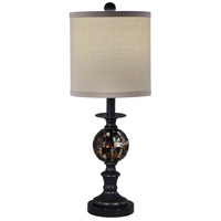 Mosaic 23 inch 60 watt Dark Antique Bronze Table Lamp Portable Light