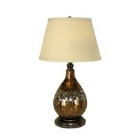 Mosaic 27 inch 100 watt Dark Antique Bronze Table Lamp Portable Light