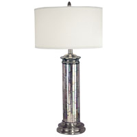 Dale Tiffany PG10538 Silver 30 inch 100 watt Antique Pewter Table Lamp Portable Light