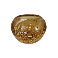 Dale Tiffany Amber Speckle Round Bowl PG10635 photo thumbnail