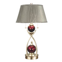 Dale Tiffany Alton Table Lamp 2 Light in Satin Nickel PG60053