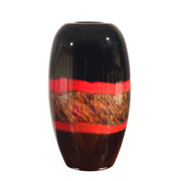 Dale Tiffany Ebony Broad Vase PG60111