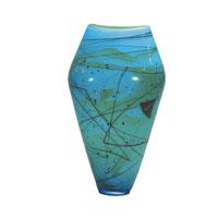 Dale Tiffany Mystic Blue Jar Vase PG60690